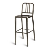 Navy High Stool - Gunmetal