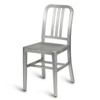 Navy Side Chair - Anodized Aluminium