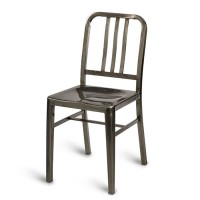 Navy Side Chair - Gunmetal