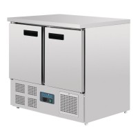 Polar Double Door Counter Fridge 240Ltr