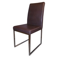Ex Restaurant Chairs - Brown Faux Leather