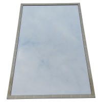 Used decorative rectangle silver framed mirrors
