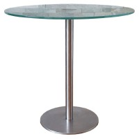 Used Round Glass Top Cafe Tables