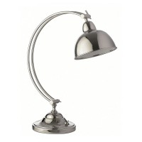 Ex Hotel Lighting - Heathfield Oslo Nickel Desk Lamp