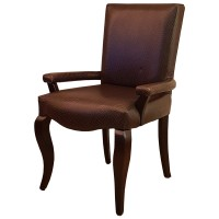 Ex Hotel Solid Wood Upholstered Arm Chair
