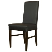 Ex Hire Restaurant Dining Chairs in Black Faux Leather