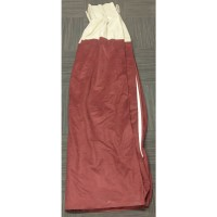 Used ex hotel luxury red and cream curtain pair