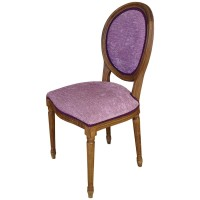 Used Ex Restaurant Louis Chairs - Purple