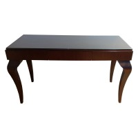 Used Solid Wood Glass Topped Desk Dressing Table