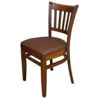 Used Houston Side Chair with Reupholstered Seat Pad