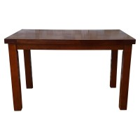 Used Solid Wood Restaurant Dining Table 120x70cm