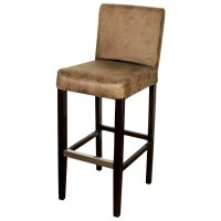 Vintage Faux Leather Bar Stool