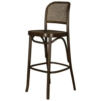 Bentwood Bar Stool - Walnut