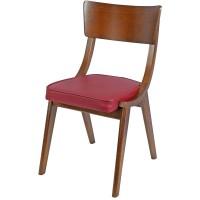 Wave Side Chair Oak / Burgundy