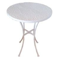 Outdoor White Round Table