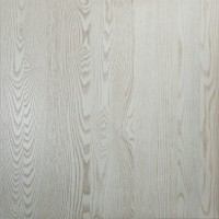 Antique White Solid Wood Ash Table Tops 25mm Thick