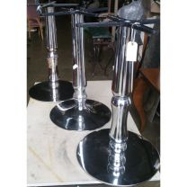 Three Polished Dining Height Bases