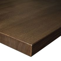40mm Solid Ash Table Top - Finished in Walnut