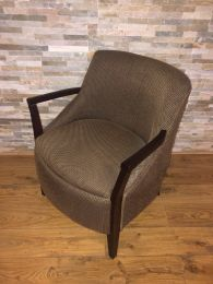 Luxury Ex Hotel Armchair with Patterned Upholstery.