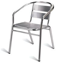 Outdoor Aluminium Arm Chair, Stackable