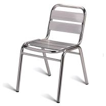 Outdoor Aluminium Side Chair, Stackable