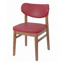 Angel Side Chair Oak & Burgundy