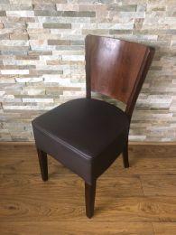 Ex Restaurant Dining Chair with Dark Wood Frame