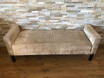 Ex Hotel Bench Seat with Textured Cream Upholstery