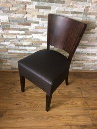 Ex Restaurant Chair with Dark Wood Frame