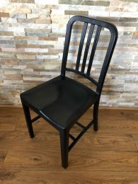 Black Outdoor Side Chair