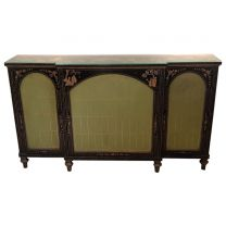 Ex Hotel black & Gold Painted Decorative Sideboard
