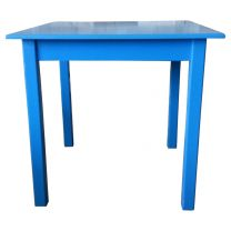 Blue four leg dining table 80cm Square