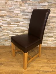 Ex Restaurant High Back Dining Chair with Solid Oak Frame.