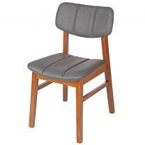Burford Side Chair Oak & Grey