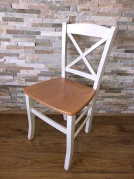 Ex Restaurant Cross Back Chair with Solid Wood Seat