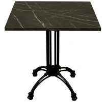 Black Marble Complete Continental Square Table