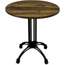 Rustic Oak Complete Continental Small Round Table