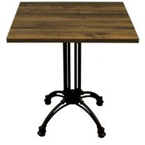 Rustic Oak Complete Continental Square Table