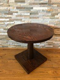 Ex Restaurant Coffee Height Table in Dark Wood