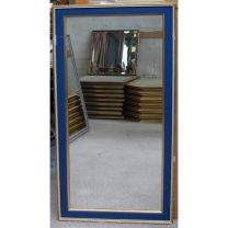 Large Blue Framed Mirror