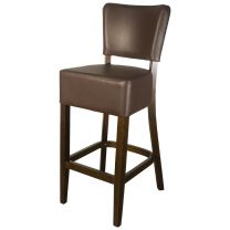 Belmont Brown Faux Leather Bar Stool
