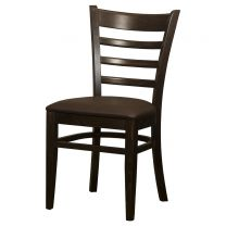 Belmont Ladder Back Walnut / Brown Side Chair