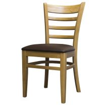 Belmont Ladder Back Oak / Brown Side Chair