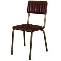 Foundry Wine/Gold Side Chair