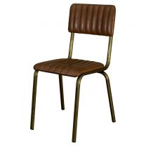 Foundry Brown/Gold Side Chair
