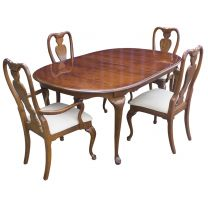 Luxury Oval Extendable Table & 4 Chairs Set