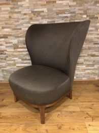 Ex Hotel Luxury Large Lounge Chair with Grey Upholstery