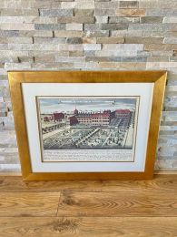 Ex-Hotel Large Gold Framed Picture. The Royal Palace of Kensington.