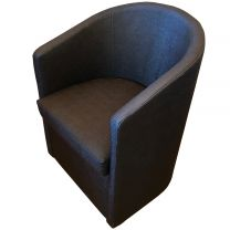 Compact Tub Chair in Blue Textured Upholstery
