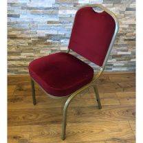 Stackable Banqueting Chair with Red Upholstery